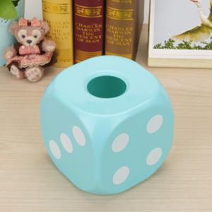 Household Dice Shape Extractive Tissue Storage Box -