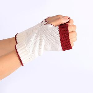 Double Color Knitted Fingerless Gloves -
