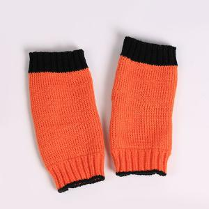 Double Color Knitted Fingerless Gloves - JACINTH