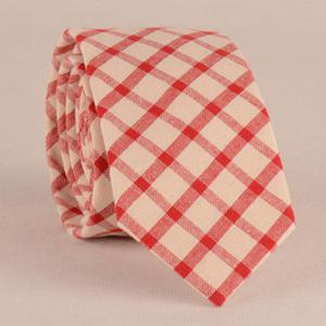 Gingham Print Tie Pocket Square and Bow Tie -