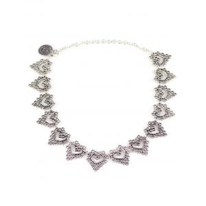 Hollowed Heart Metal Necklace - SILVER