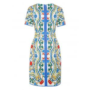 Jacquard Vintage Sheath Dress -