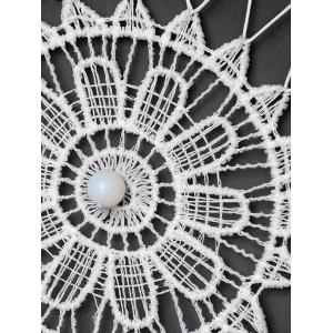 Circular Net With Feathers Dreamcatcher Multipurpose Keyring - WHITE