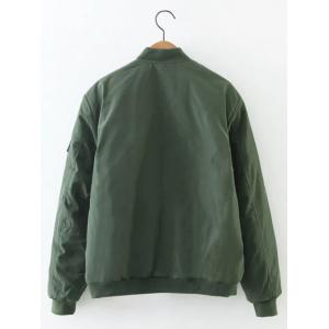 Zip Relaxed Up Bomber Jacket -