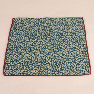 Leaf Print Tie Pocket Square and Bow Tie - WATER BLUE