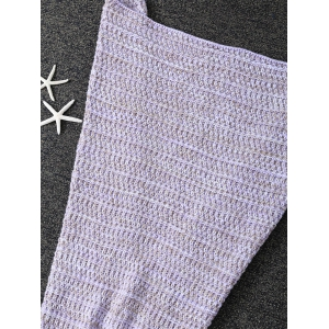 Super Soft Antipilling Sac de couchage pour enfants Wrap Mermaid Blanket - Pourpre