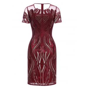 See-Through Embroidered Vintage Dress -