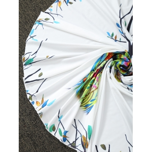 Christmas Reindeer Print Round Blanket Throw - WHITE ONE SIZE(FIT SIZE XS TO M)