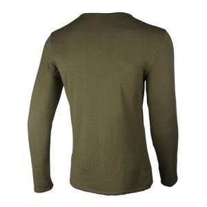 Crew Neck Star and Graphic Print Long Sleeve T-Shirt - ARMY GREEN 3XL