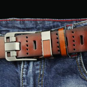 Casual Pin Buckle PU Geometric Emboss Ceinture -