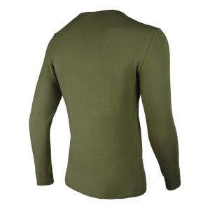 Crew Neck Eagle and Graphic Print Long Sleeve T-Shirt - ARMY GREEN 3XL