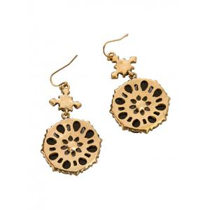 Rhinestone Flower Water Drop Earrings -
