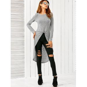 Twist Front High Low Blouse -