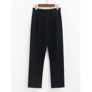 Fitted Woolen Ninth Pants -