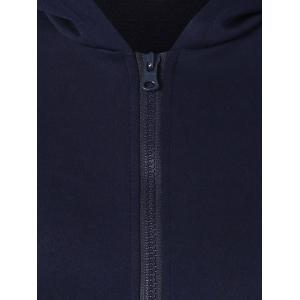 Zip Up Ear Hooded Hoodie - PURPLISH BLUE XL