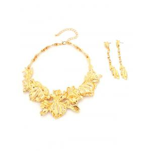 Rhinestone Alloy Glaze Necklace and Earrings -