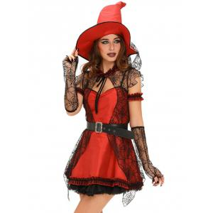 Lace Splicing Witch Halloween Cosplay Dress -