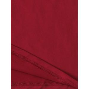 Elastic Waistband Palazzo Scrub Pants - WINE RED 3XL