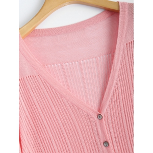 Buttoned Slimming Cardigan -