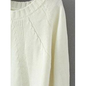 Vintage Slit Ribbed Knitted  Sweater -
