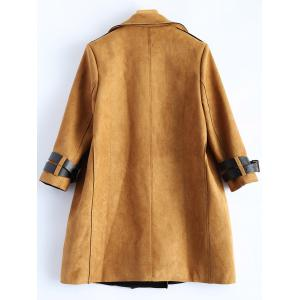 Sueded Lapel Trench Coat - EARTHY M