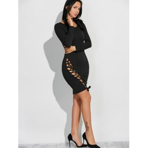 Long Sleeve Cut Out Bodycon Dress -