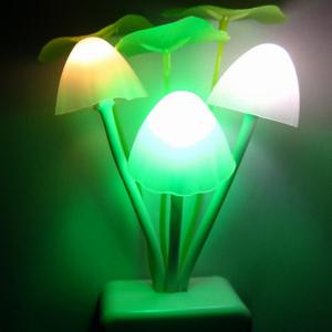 Colorful Socket Power Supply Mushroom Bedside LED Night Light -