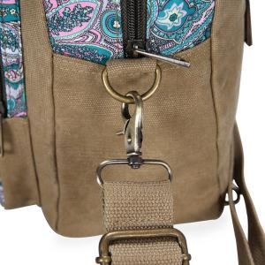 Ethnic Style Canvas Paisley Print Backpack -