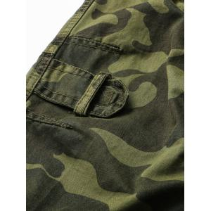Pockets Design Straight Leg Camouflage Cargo Pants -
