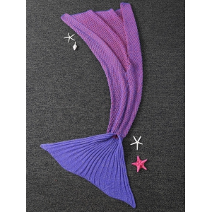 Chaud Dot Design Antipilling Sleeping Bag Blanket Wrap Mermaid - Pourpre