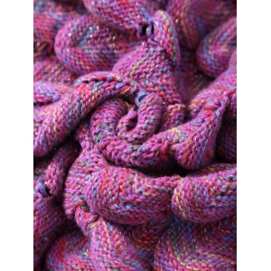 Soft Fish Scale Design Antipilling Sleeping Bag Wrap Mermaid Blanket - ROSE RED