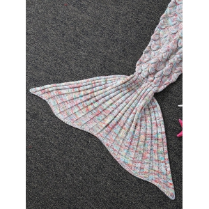 Soft Fish Scale Design Antipilling Sleeping Bag Wrap Mermaid Blanket -