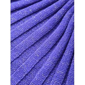Handmade Knitted Antipilling Sleeping Bag Sofa Wrap Mermaid Blanket - PURPLE