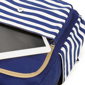 Metal Striped Pattern Color Splicing Backpack -