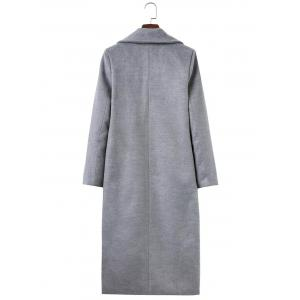 Fitted Twin Pockets Wool Coat -