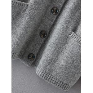 Button Up Sweater Coat with Pockets -