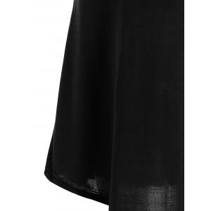 Hollow Out Tunic Tee Casual Dress - BLACK M