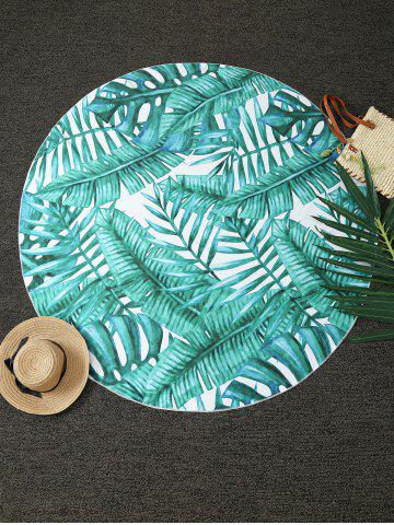 Discount Tropical Plant Print Round Blanket Throw - ONE SIZE(FIT SIZE XS TO M) GREEN Mobile