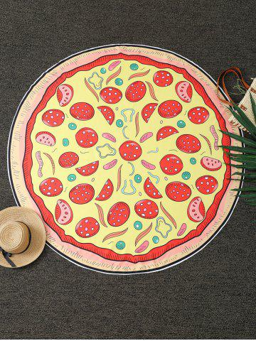 Online Pizza Print Round Blanket Throw YELLOW ONE SIZE(FIT SIZE XS TO M)