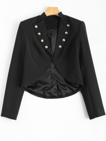 Unique Buttoned Cropped Blazer