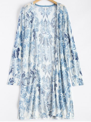 Shop Printed Open Front Duster Coat