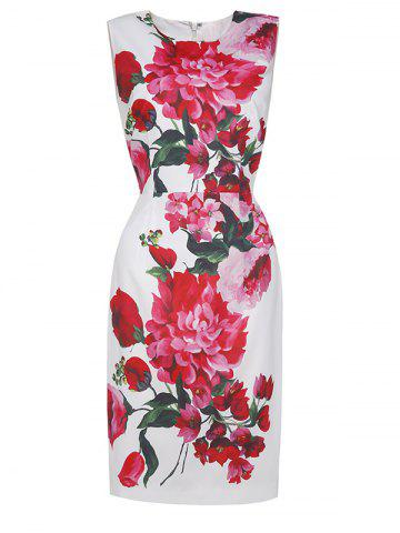 New Floral Vintage Bodycon Dress