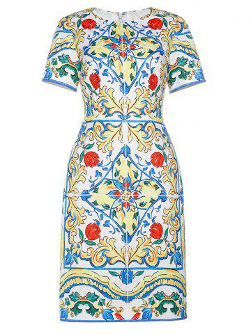 Buy Jacquard Vintage Sheath Dress