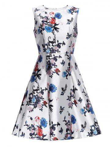 Online Flower Vintage Fit and Flare Dress