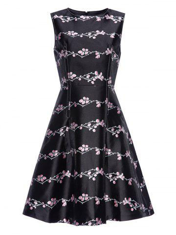 Shops Plum Print Vintage Fit and Flare Dress
