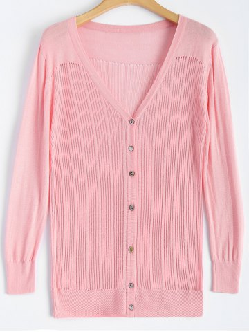 Affordable Buttoned Slimming Cardigan