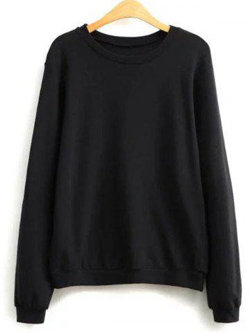 Fancy Plain Loose Sweatshirt