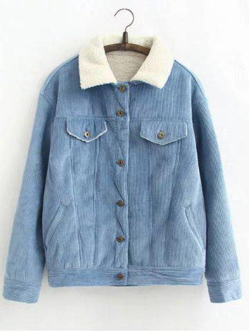 Outfit Vintage Sherpa Fleece Corduroy Jacket