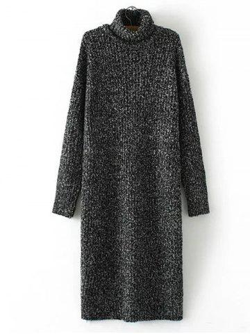 Outfit Turtle Neck Long Jumper Dress with Sleeves