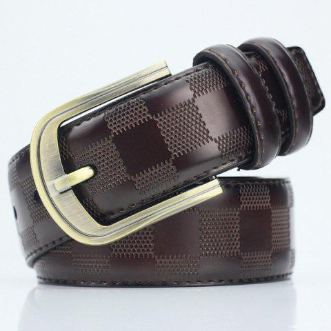 Fashion Casual Pin Buckle PU Plaid Belt